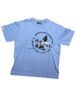 Stamp Tee Azure blue